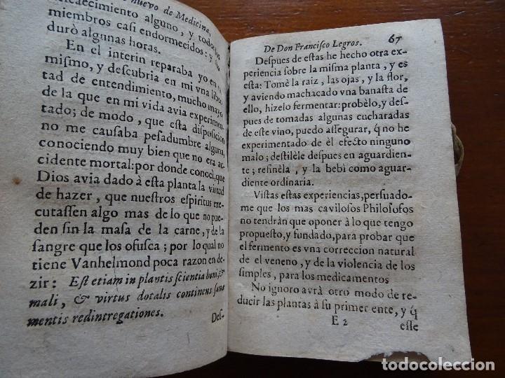 Libros antiguos: Tesoro de Medicina, Francisco Legros, 1717?, 204 pags, 8ª, tapas pergamino - Foto 6 - 112358035