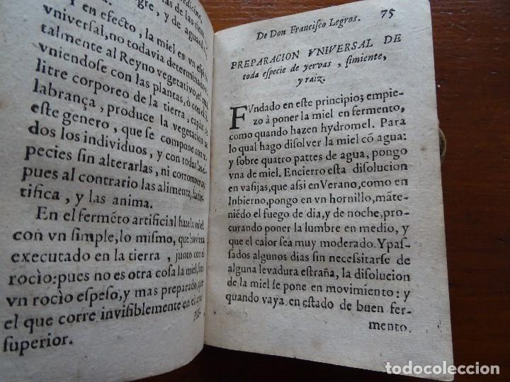 Libros antiguos: Tesoro de Medicina, Francisco Legros, 1717?, 204 pags, 8ª, tapas pergamino - Foto 7 - 112358035