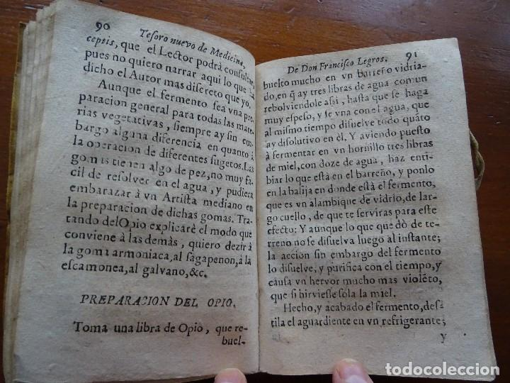 Libros antiguos: Tesoro de Medicina, Francisco Legros, 1717?, 204 pags, 8ª, tapas pergamino - Foto 8 - 112358035