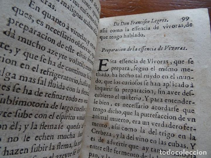 Libros antiguos: Tesoro de Medicina, Francisco Legros, 1717?, 204 pags, 8ª, tapas pergamino - Foto 9 - 112358035