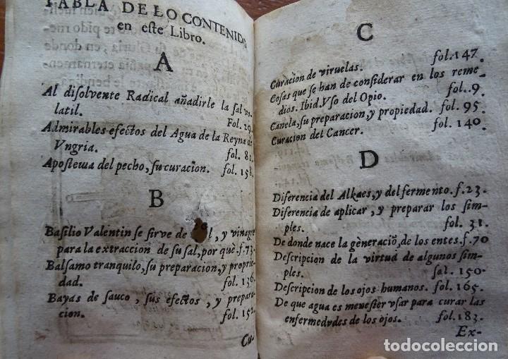 Libros antiguos: Tesoro de Medicina, Francisco Legros, 1717?, 204 pags, 8ª, tapas pergamino - Foto 18 - 112358035