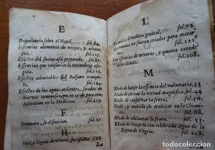 Libros antiguos: Tesoro de Medicina, Francisco Legros, 1717?, 204 pags, 8ª, tapas pergamino - Foto 19 - 112358035