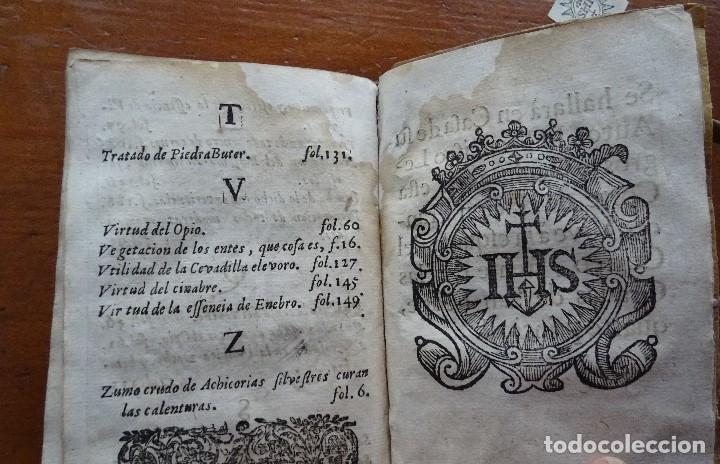 Libros antiguos: Tesoro de Medicina, Francisco Legros, 1717?, 204 pags, 8ª, tapas pergamino - Foto 21 - 112358035