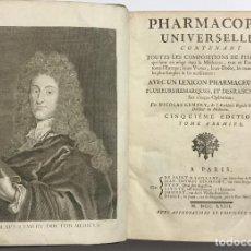 Libros antiguos: PHARMACOPÉE UNIVERSELLE, CONTENANT TOUTES LES COMPOSITIONS DE PHARMACIE... LEMERY, NICOLAS. 1763. Lote 109021147