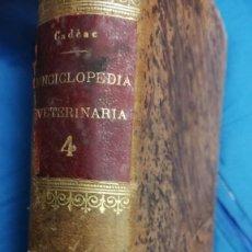 Libros antiguos: ENCICLOPEDIA VETERINARIA HIGIENE DE LOS ANIMALES DOMESTICOS,H. BOUCHER- AÑO 1900.... Lote 113360555