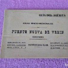 Libros antiguos: AGUAS MINERO MEDICINALES FUENTE NUEVA DE VERIN, GUIA DEL AGUISTA, ORENSE1909. Lote 113400435