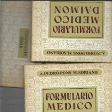 Libros antiguos: FORMULARIO MEDICO DAIMON - AÑOS 1964 - 1965 - 1966 - A. PEDRO PONS - M. SORIANO. Lote 113437851