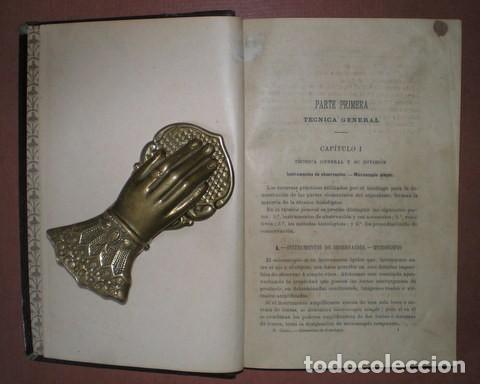 Libros antiguos: RAMON Y CAJAL, Santiago: ELEMENTOS DE HISTOLOGIA NORMAL Y DE TECNICA MICROGRAFICA. 1895 1ª edición - Foto 3 - 113677871