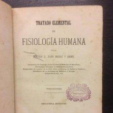 Libros antiguos: TRATADO DE FISIOLOGIA HUMANA, DOCTOR JUAN MAGAZ Y JAIME, 1871. Lote 113987991