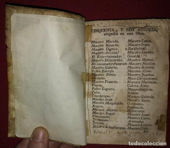 Libros antiguos: Libro de medicina, llamado Tesoro de Pobres 1747 - Foto 7 - 114707775