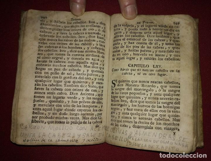 Libros antiguos: Libro de medicina, llamado Tesoro de Pobres 1747 - Foto 12 - 114707775