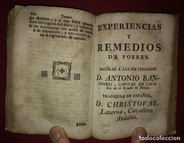 Libros antiguos: Libro de medicina, llamado Tesoro de Pobres 1747 - Foto 14 - 114707775