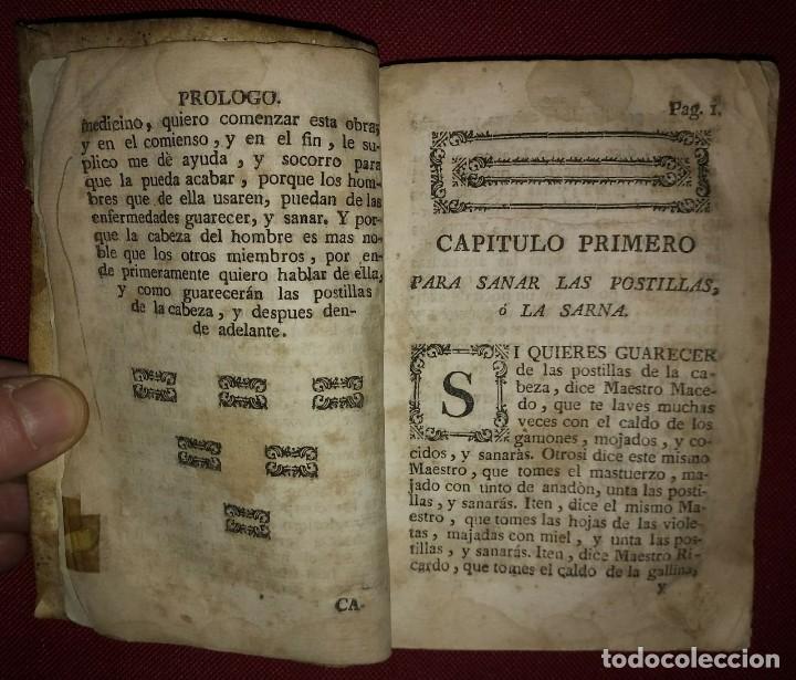 Libros antiguos: Libro de medicina, llamado Tesoro de Pobres 1747 - Foto 9 - 114707775