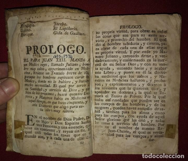 Libros antiguos: Libro de medicina, llamado Tesoro de Pobres 1747 - Foto 8 - 114707775