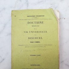 Libros antiguos: DOCTRINE MEDICALE UNIVERSELLE 1835 TOME 1. Lote 116284303