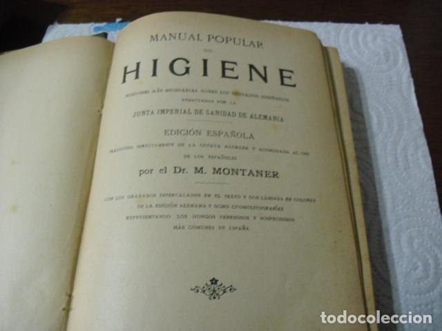 Libros antiguos: MANUAL POPULAR DE HIGIENE REDACTADO POR EL CONSEJO IMPERIAL DE SANIDAD DE ALEMANIA ENTRA Y MIRALO - Foto 7 - 116457071
