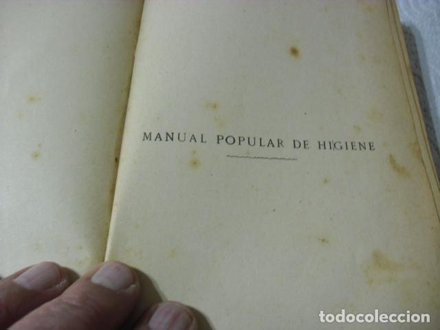Libros antiguos: MANUAL POPULAR DE HIGIENE REDACTADO POR EL CONSEJO IMPERIAL DE SANIDAD DE ALEMANIA ENTRA Y MIRALO - Foto 11 - 116457071
