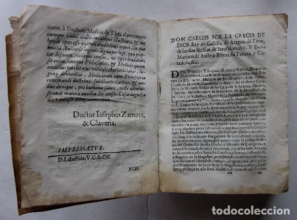 Libros antiguos: MANUS MEDICA DEXTERA QUINQUE DIGITOS CONTINENS...- MATHIA DE LLERA (LACORVILLA 1620 - ZARAGOZA 1677) - Foto 5 - 116627435