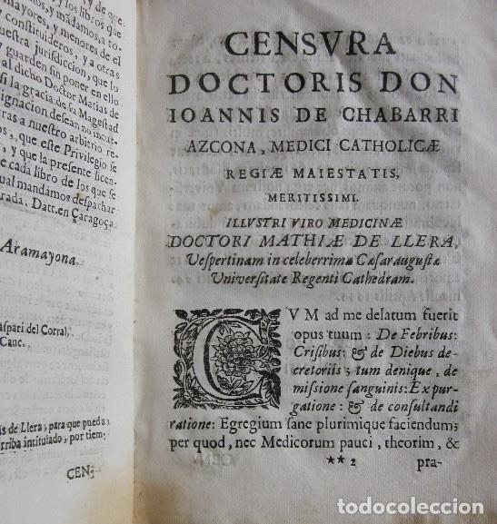 Libros antiguos: MANUS MEDICA DEXTERA QUINQUE DIGITOS CONTINENS...- MATHIA DE LLERA (LACORVILLA 1620 - ZARAGOZA 1677) - Foto 6 - 116627435