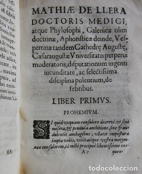Libros antiguos: MANUS MEDICA DEXTERA QUINQUE DIGITOS CONTINENS...- MATHIA DE LLERA (LACORVILLA 1620 - ZARAGOZA 1677) - Foto 8 - 116627435