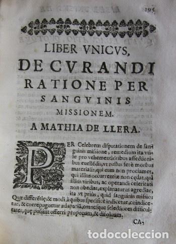 Libros antiguos: MANUS MEDICA DEXTERA QUINQUE DIGITOS CONTINENS...- MATHIA DE LLERA (LACORVILLA 1620 - ZARAGOZA 1677) - Foto 10 - 116627435