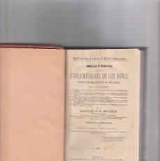 Libros antiguos: ENFERMEDADES DE LOS NIÑOS-DOCTOR S.E.MAURIN-MADRID 1887. Lote 117164999