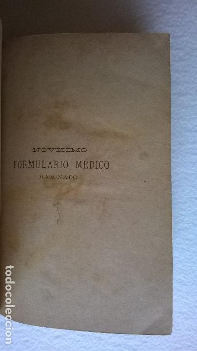 Libros antiguos: 303-Formulario médico razonado 1888-Garín, Pascual - Foto 5 - 56544836