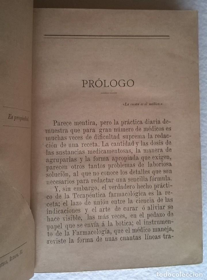 Libros antiguos: 303-Formulario médico razonado 1888-Garín, Pascual - Foto 6 - 56544836