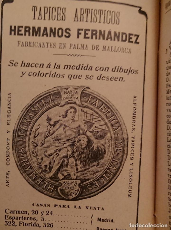 Libros antiguos: GUIA MÉDICO FARMACÉUTICA DE MADRID 1910, ESPUMOSOS HERRANZ - Foto 5 - 118591935