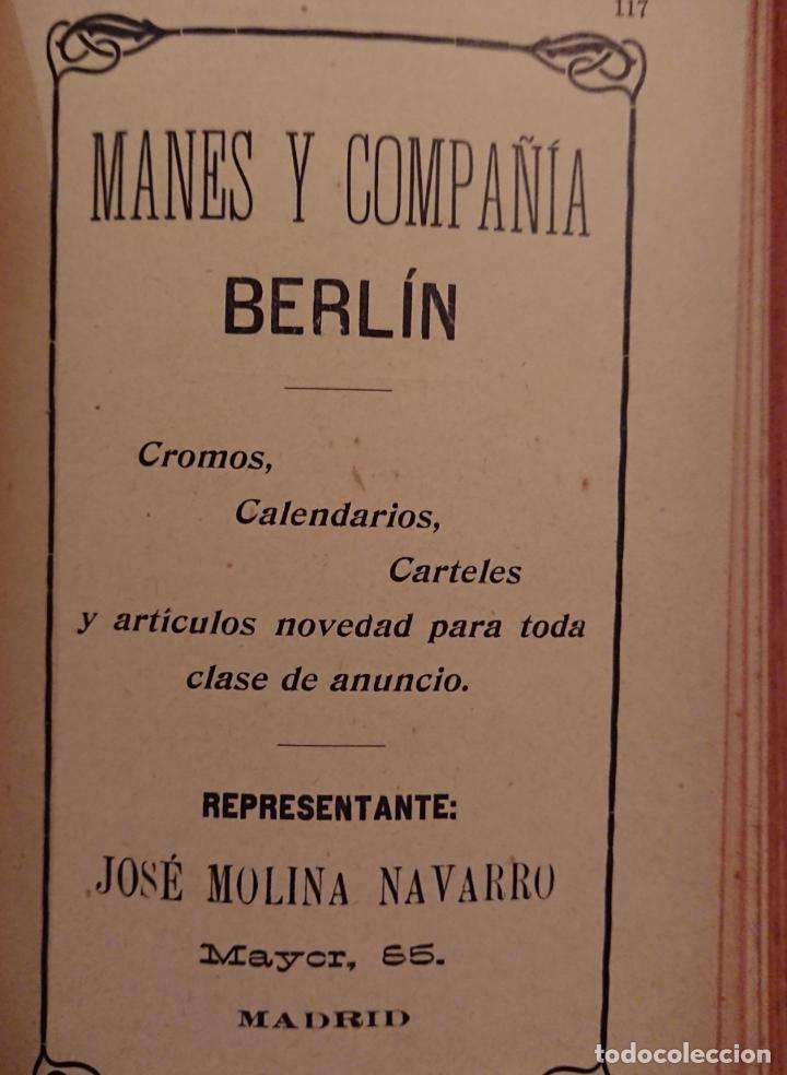 Libros antiguos: GUIA MÉDICO FARMACÉUTICA DE MADRID 1910, ESPUMOSOS HERRANZ - Foto 6 - 118591935
