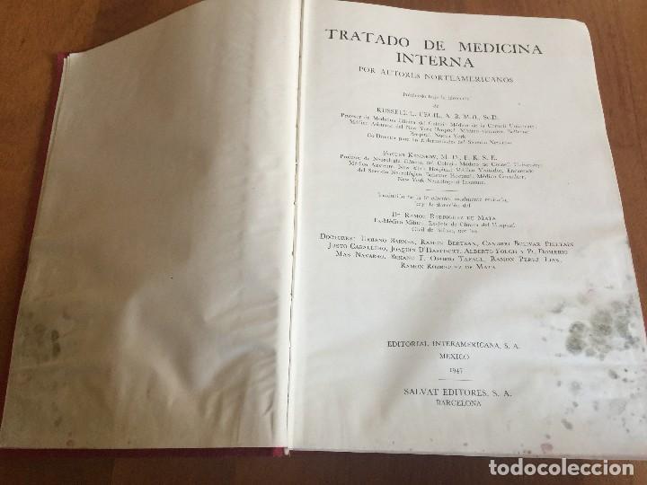 Libros antiguos: Libros TRATADO DE MEDICINA INTERNA, Cecil, Ed. Salvat, Tomos I y II, (COMPLETO), 1947 - Foto 5 - 118956187
