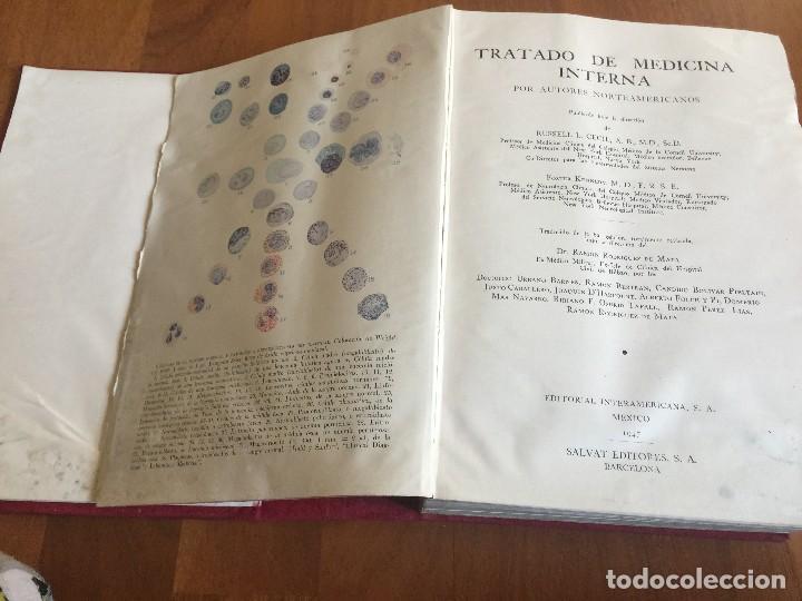 Libros antiguos: Libros TRATADO DE MEDICINA INTERNA, Cecil, Ed. Salvat, Tomos I y II, (COMPLETO), 1947 - Foto 6 - 118956187
