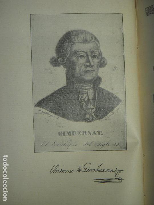 Libros antiguos: OBRAS DE ANTONIO DE GIMBERNAT (2 TOMOS) - ENRIQUE SALCEDO - IMPR. DE COSANO, 1926-8 (INTONSO) - Foto 3 - 120436219