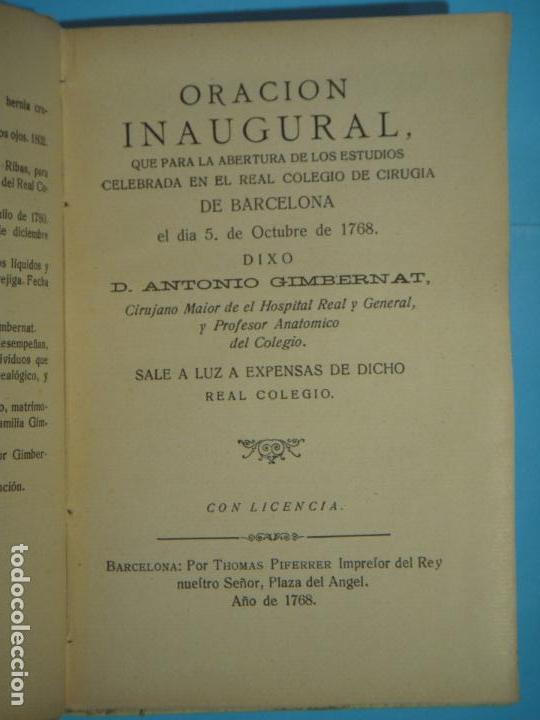 Libros antiguos: OBRAS DE ANTONIO DE GIMBERNAT (2 TOMOS) - ENRIQUE SALCEDO - IMPR. DE COSANO, 1926-8 (INTONSO) - Foto 5 - 120436219
