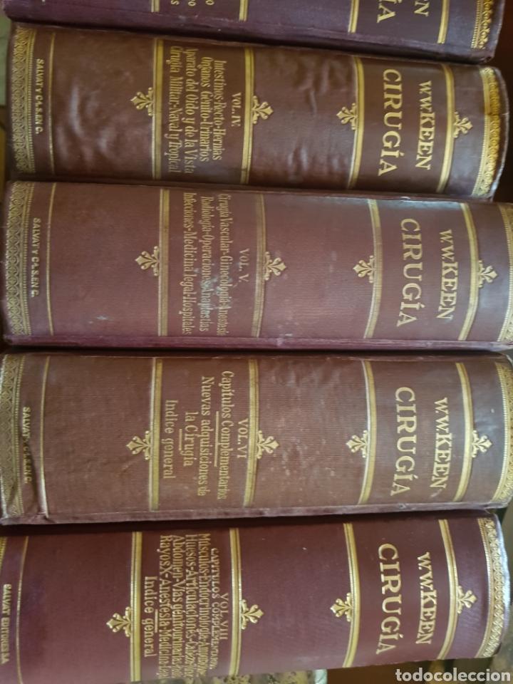 Libros antiguos: CIRUGÍA.TRATADO TEORICO-PRÁCTICO 1910-1911-1912-1914-1915. LOTE DE 8 TOMOS ILUSTRADOS- W. W. KEEN - Foto 2 - 123456532