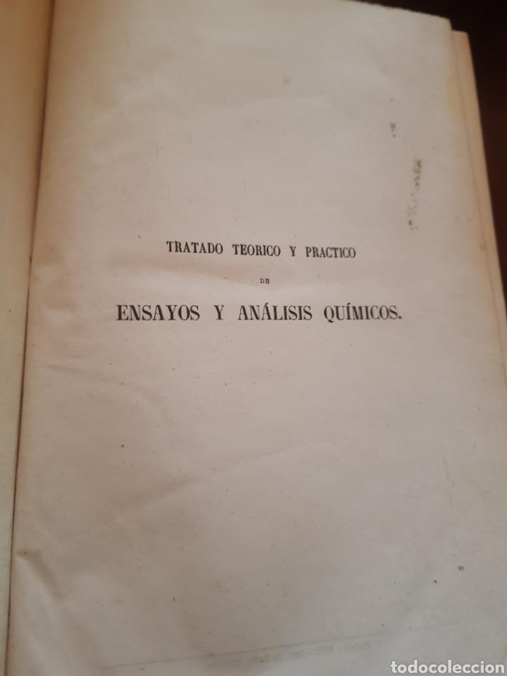 Libros antiguos: Raro libro de tratado teórico y práctico de ensayos y análisis químicos de Luis María Utor 1872 - Foto 2 - 148176772