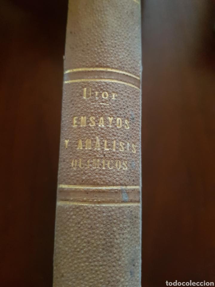 Libros antiguos: Raro libro de tratado teórico y práctico de ensayos y análisis químicos de Luis María Utor 1872 - Foto 4 - 148176772