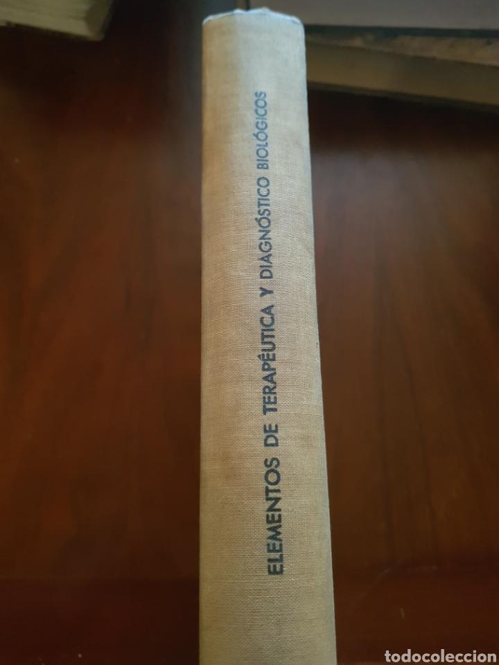 Libros antiguos: Elementos de terapéutica y diagnóstico biológicos - Foto 3 - 123483928