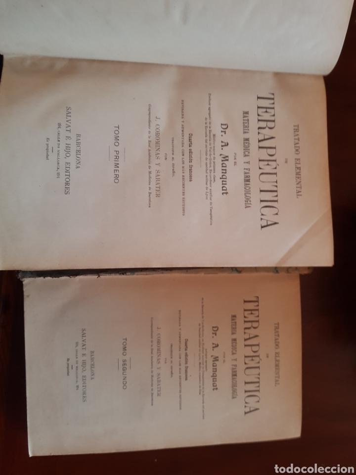 2 TOMOS TRATADO ELEMENTAL DE TERAPÉUTICA DR A MANQUAT (Libros Antiguos, Raros y Curiosos - Ciencias, Manuales y Oficios - Medicina, Farmacia y Salud)