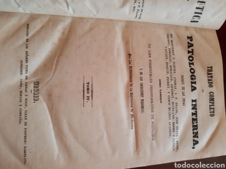 Libros antiguos: Tratado completo de patología interna 9 tomos en 3 libros 1844 - Foto 3 - 123498912