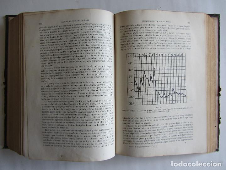 Libros antiguos: Manual de medicina interna. T. Hernando, G. Marañón. Tomo I. Año 1916. Ilustrado. Tapas duras. 938 p - Foto 5 - 124654559
