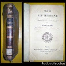 Libros antiguos: DOCTOR FOY: MANUAL DE HIGIENE. IGNACIO BOIX, MADRID 1845. Lote 125306331