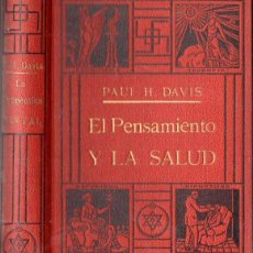 Libros antiguos: DAVIS : EL PENSAMIENTO Y LA SALUD (ANTONIO ROCH, C. 1930). Lote 150779429