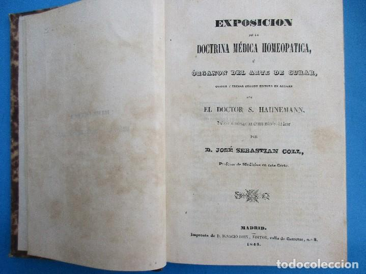 EXPOSICIÓN DE LA DOCTRINA MÉDICA HIMEOPÁTICA. S. HAHNEMANN, 1844. 426 PÁGINAS. 19,5 X 16,5 CM. (Libros Antiguos, Raros y Curiosos - Ciencias, Manuales y Oficios - Medicina, Farmacia y Salud)