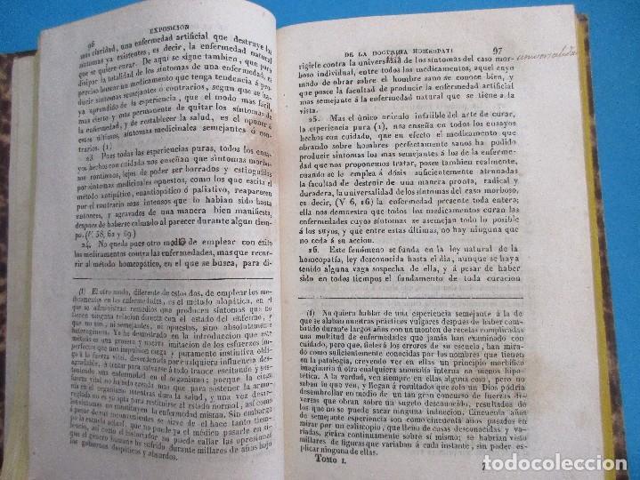 Libros antiguos: EXPOSICIÓN DE LA DOCTRINA MÉDICA HIMEOPÁTICA. S. HAHNEMANN, 1844. 426 PÁGINAS. 19,5 X 16,5 CM. - Foto 2 - 125704403