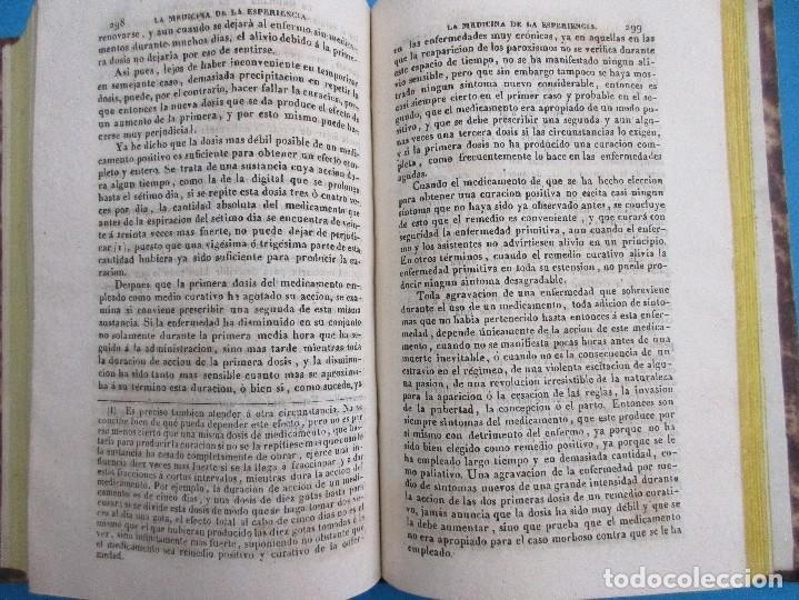 Libros antiguos: EXPOSICIÓN DE LA DOCTRINA MÉDICA HIMEOPÁTICA. S. HAHNEMANN, 1844. 426 PÁGINAS. 19,5 X 16,5 CM. - Foto 3 - 125704403