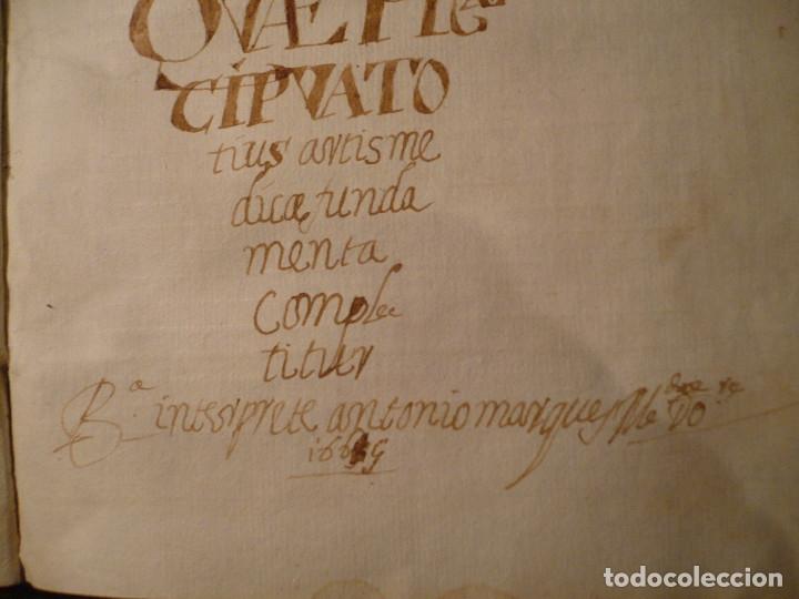 Libros antiguos: Manuscrito medicina en pergamino del S. XVII, entre 1667 y 1669 - Foto 11 - 35562786