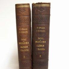 Libros antiguos: MEDICINA CLÍNICA Y TERAPÉUTICA. W. EBSTEIN.TOMOS 2, 3. BARCELONA 1898. Lote 125957019