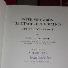 Libros antiguos: INTERPRETACION ELECTROCARDIOGRAFICA. Lote 126428743