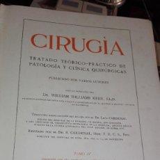 Libros antiguos: CIRUGIA TOMO IV SALVAT 1914. Lote 126431423